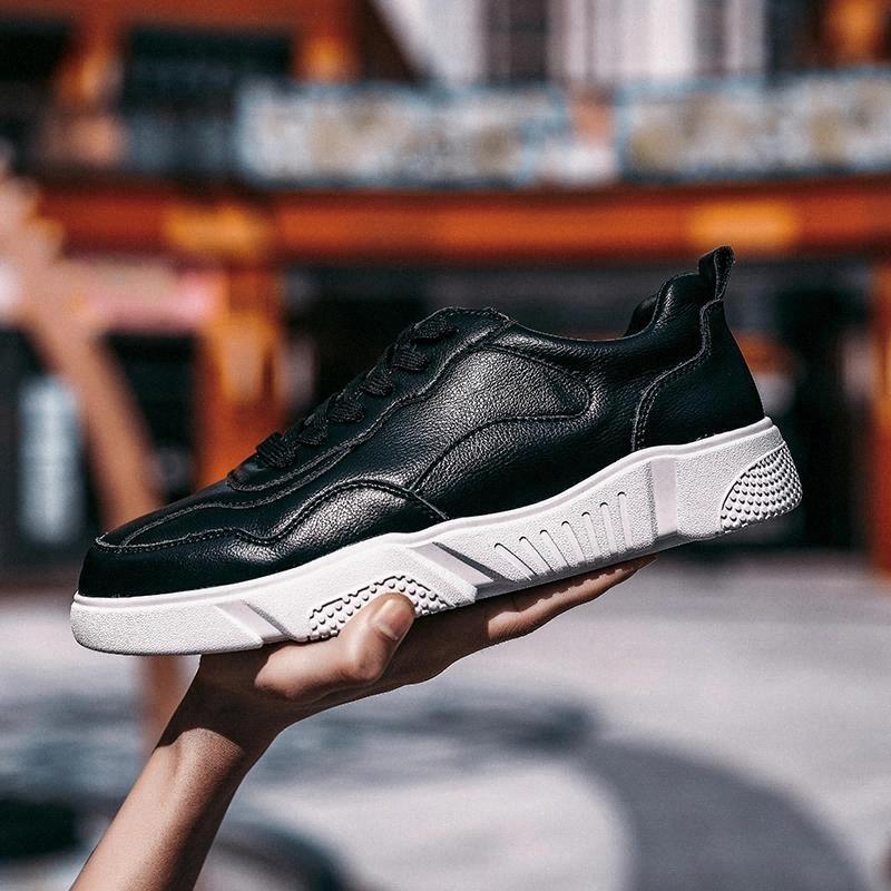 Мужская обувь Весна осень светлый свет натуральные кожаные кроссовки для мужчин открытый шнурок дышащая вскользь туфли Heren Schoenen # JC9Q