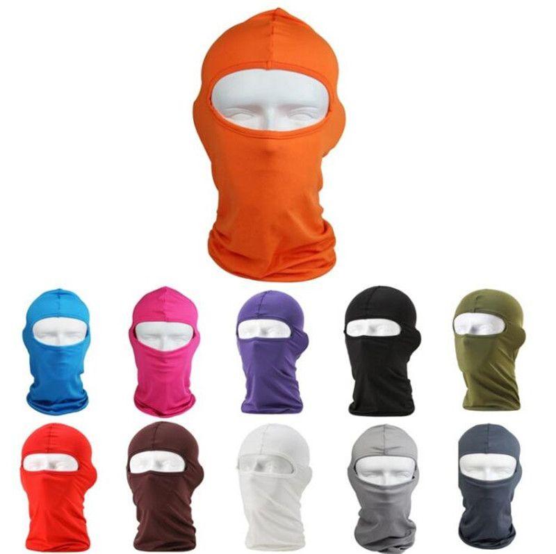 Copertura del fronte Autunno Inverno Balaclava sci del motociclo in bicicletta maschera facciale Ninja Skiboard Casco scaldacollo Ghetta tubo Beanie Hat