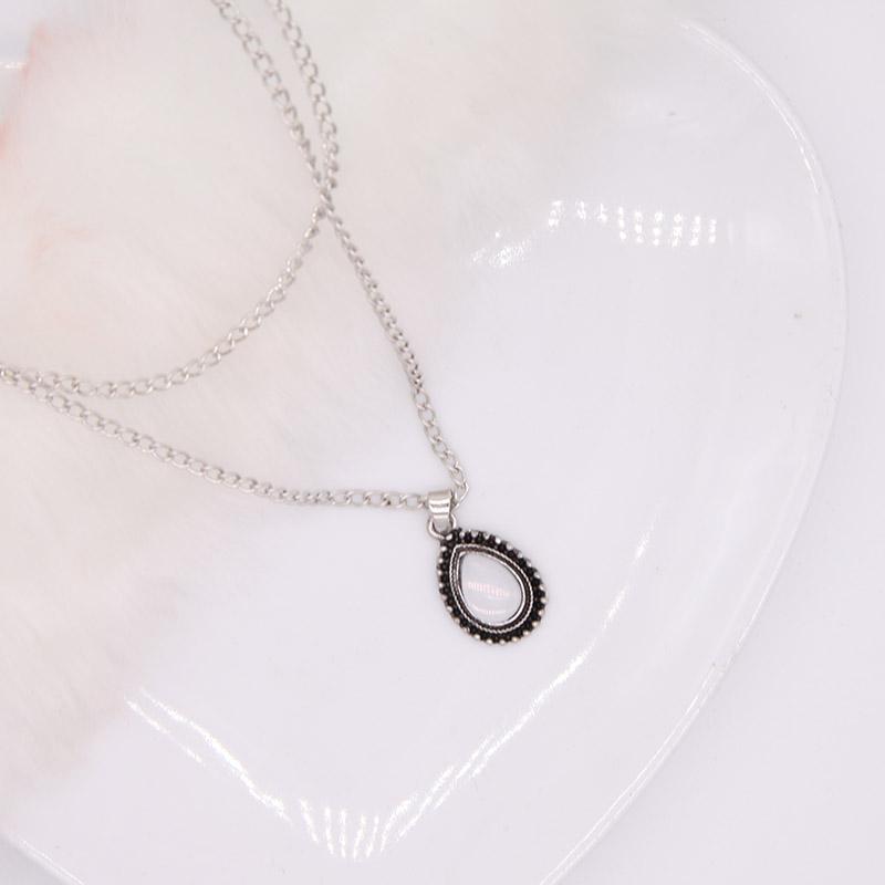 Nova vintage de prata cor gota pingente de pedra mulheres nelace menina jóias Declaração Choker Nelace Collar Mulheres Jóias Bijoux