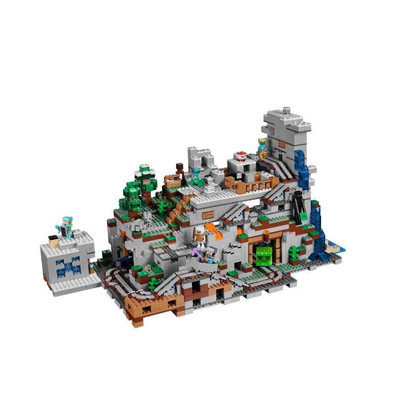창조자 재고 있음 18032 Minecraft Cave 조립 된 빌딩 블록 장난감 호환 가능 21137