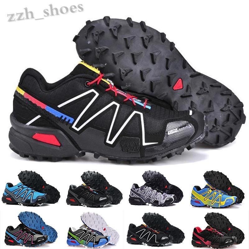 Salomon Speed Cross 3 4 2018 Yeni Gelmesi Zapatillas SpeedCross 3 Ayakkabı Yürüyüş Açık Hız Çapraz Spor Sneakers III Atletik Yürüyüş Boyutu 40-46 PR07