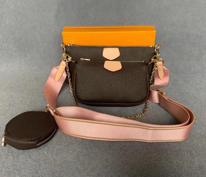 Yeni Varış Çanta Omuz Çantaları Tasarımcılar El Çantası Moda Çanta Çanta Cüzdan Telefon Çanta Üç Parçalı Kombinasyon Çanta Crossbody M44813