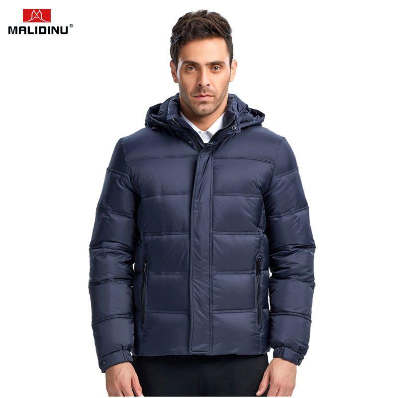 MALIDINU Men Down Jacket Winter Thick Warm Down Coat Brand High Quality 70%White Duck Down Mens Puffer Jacket European Size 201022