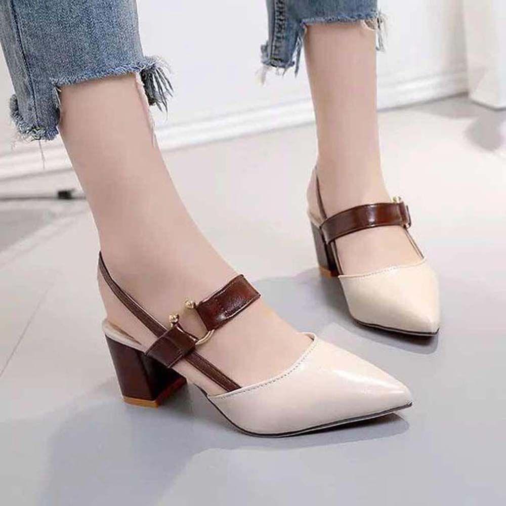 Classics Femmes de sandalsfashion sandales de plage fond épais Alphabet dame sandales en cuir chaussures haut talon 07 P32