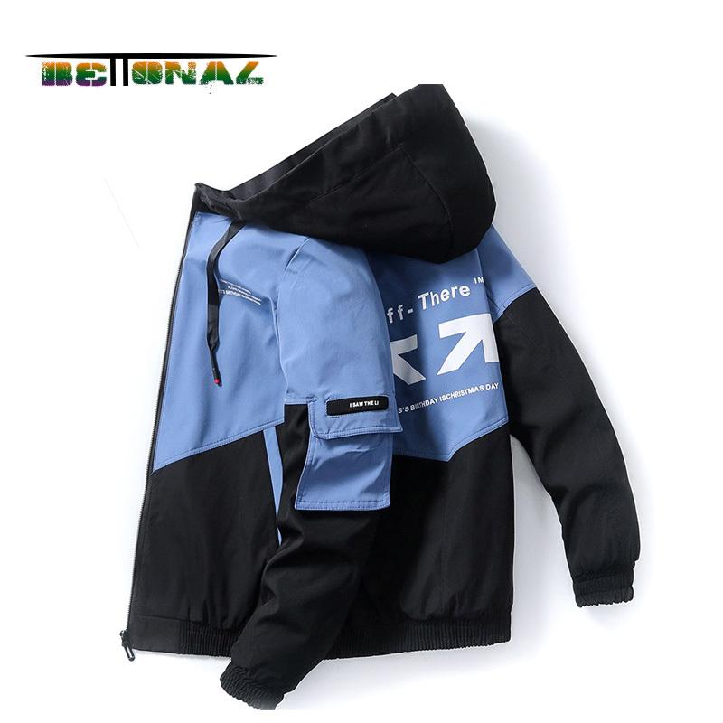 Coats Bettonal 2020 Herbst dünne Japan-Korea-Art-Hip Männer Jacke Männer Hop Street Kapuze Sweatshirts Kinder Kleidung Männlich Kleidung