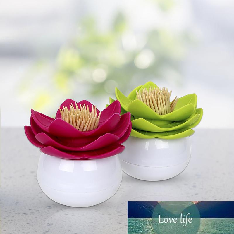 1 PZ Lotus Tampone in cotone Box Lotus Cotton BUD Holder Base Decoration / Lotus Toothpicks Holder Toothpick Case