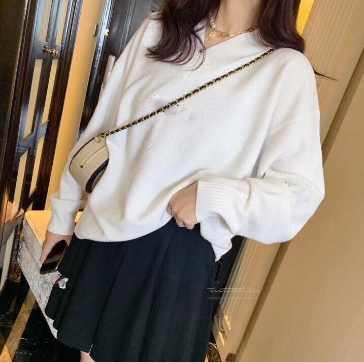2020 Nuevo Diseñador Women's Wear, Ladies Poed Suéter, Marca Moda Suéter Bordado Flojo Pullover, Moda Manga Larga Envío Gratis