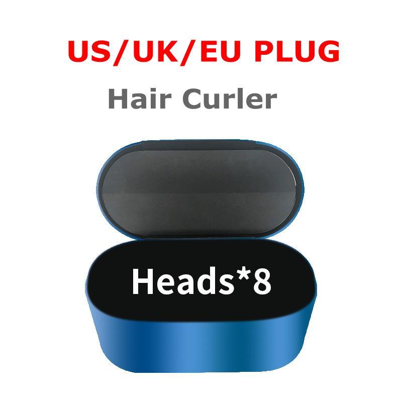 2021 Высококачественные волосы Curler 8-Heads Multi-Function Уборка для укладки волос Автоматическое завивка Утюг для нормальных волос EU / UK / US с подарочной коробкой