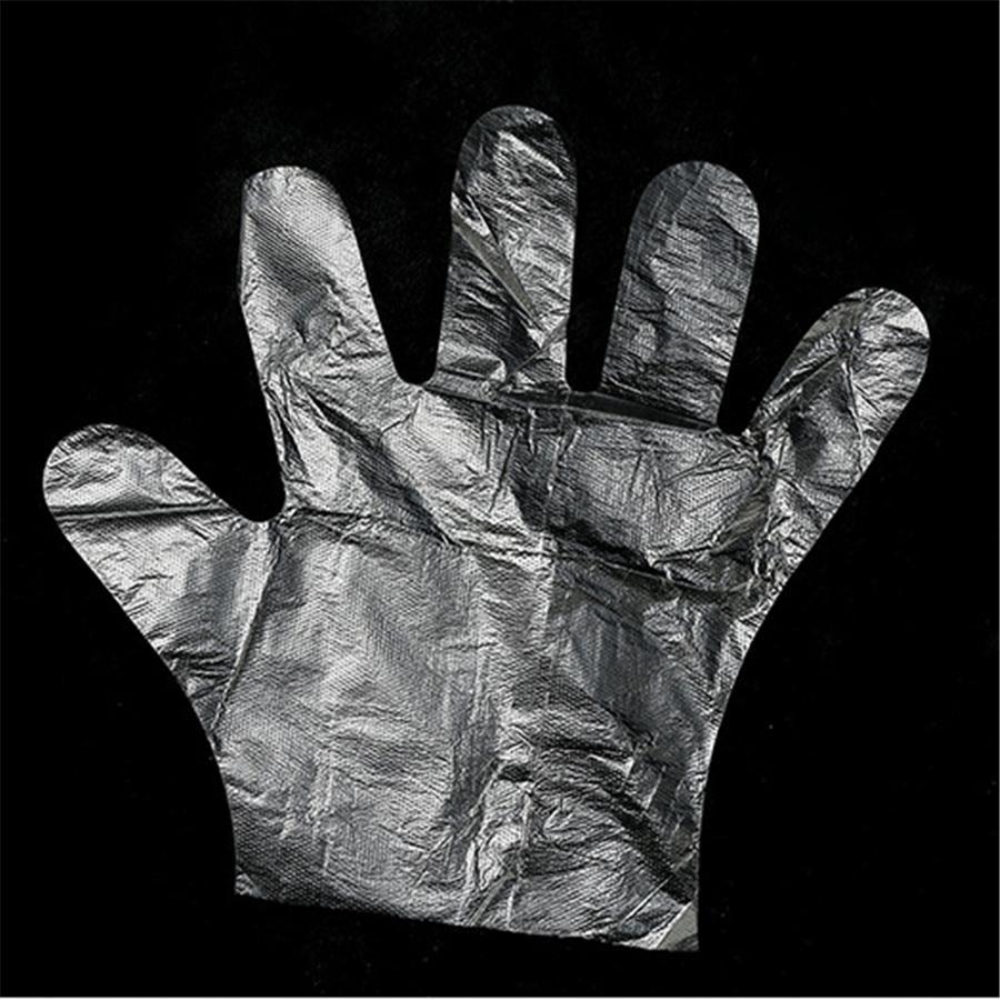 pour 1pcs / sac en plastique à usage unique Gants alimentaires Préparation de cuisine, nettoyage, manipulation des aliments Accessoires de cuisine JK200