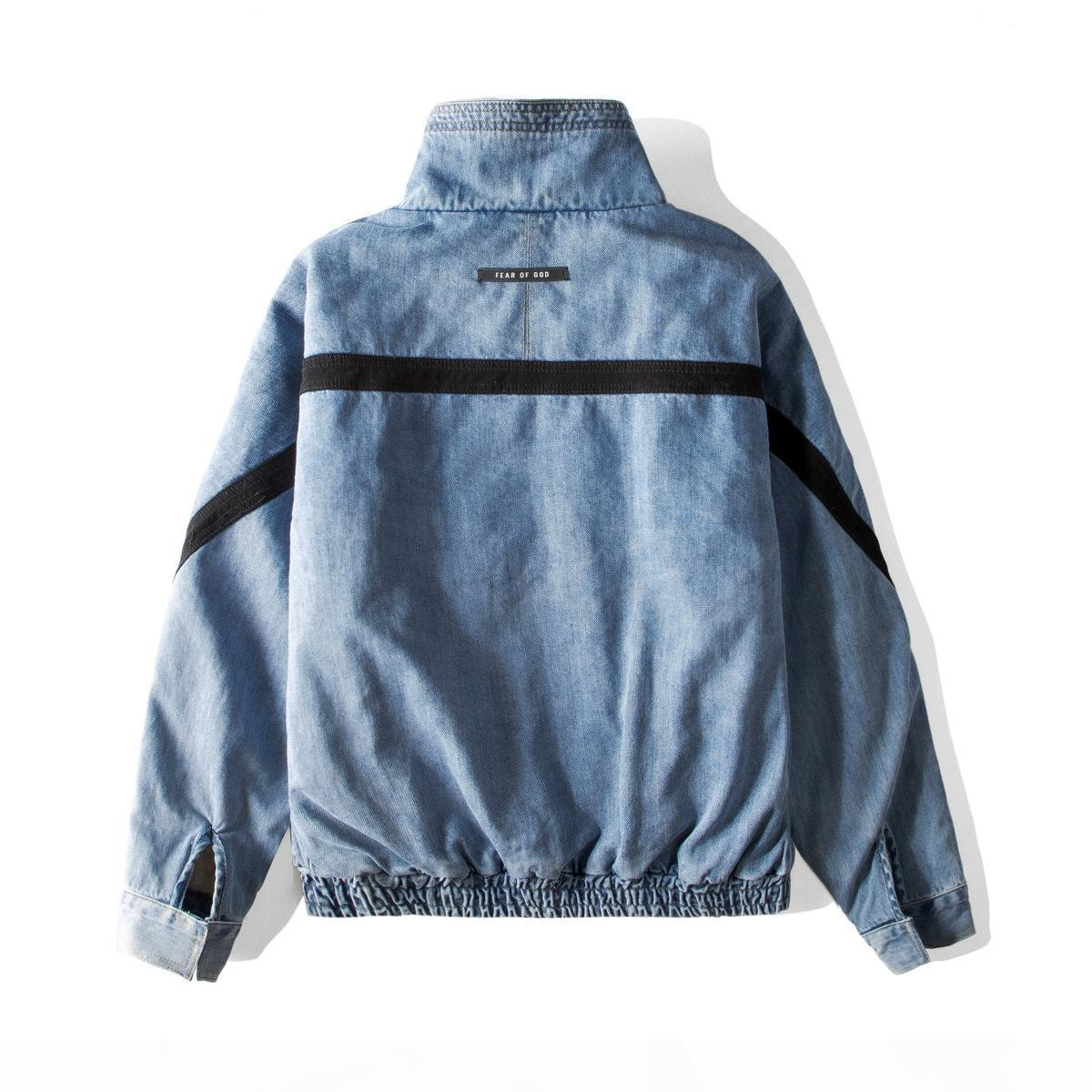19SS Nebbia 6th Mens Giacche High Street Fashion Coat Waving Tooling Tooling Giacca in denim a vento