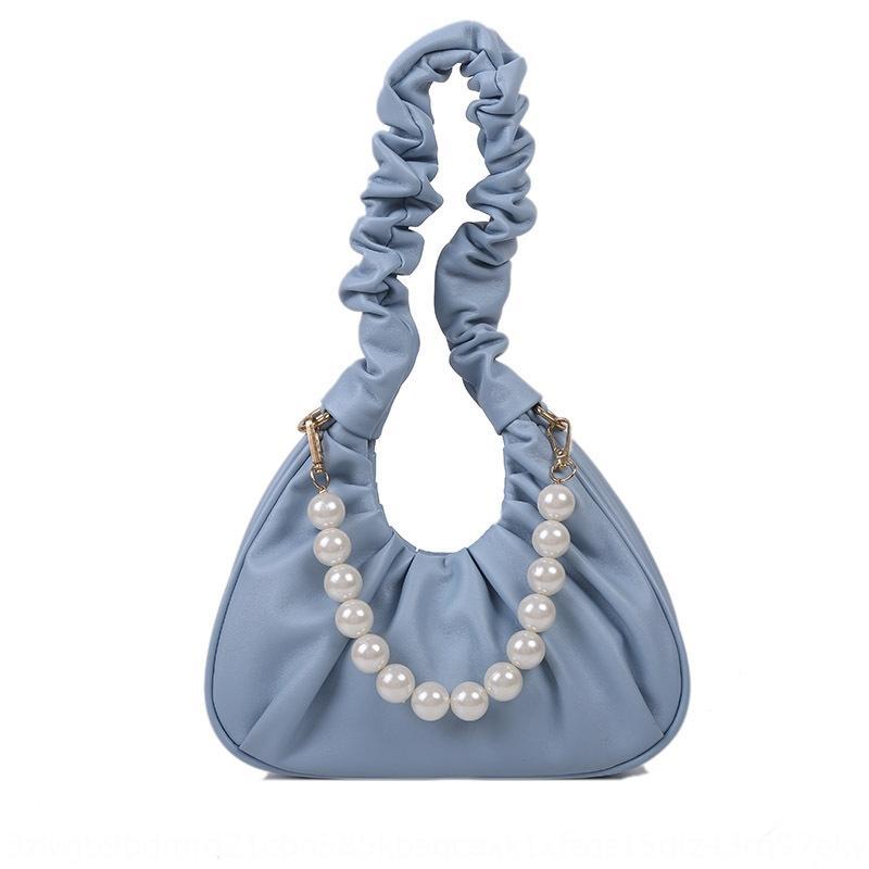 Yunduo Frauen 2020 neue Textur vielseitig gefaltete Achsel weiches Gesicht Tasche Tasche Tasche Schulter bagpearl ein Schulterhand 7B404