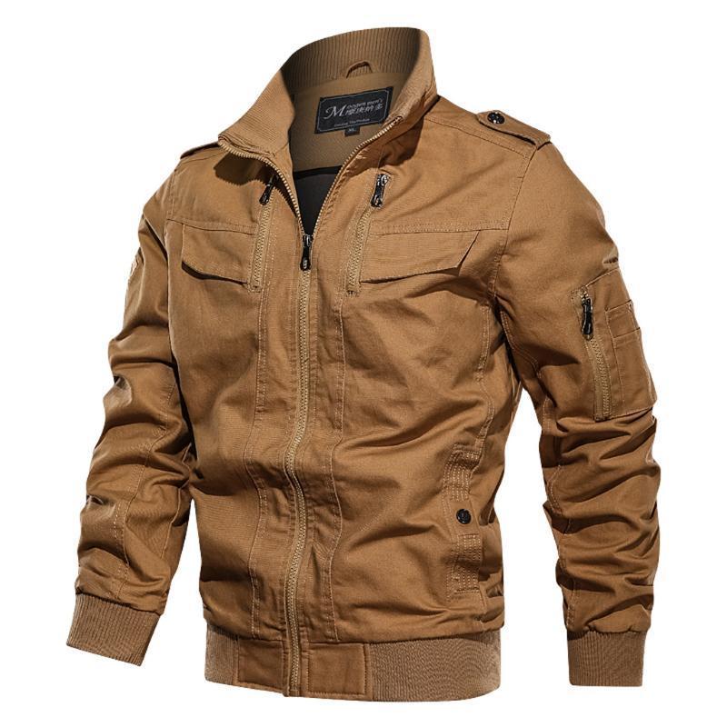 Escudo Vogue Tide invierno chaquetas Otoño Invierno Outwear color caqui táctico transpirable Streetwear capa de la chaqueta