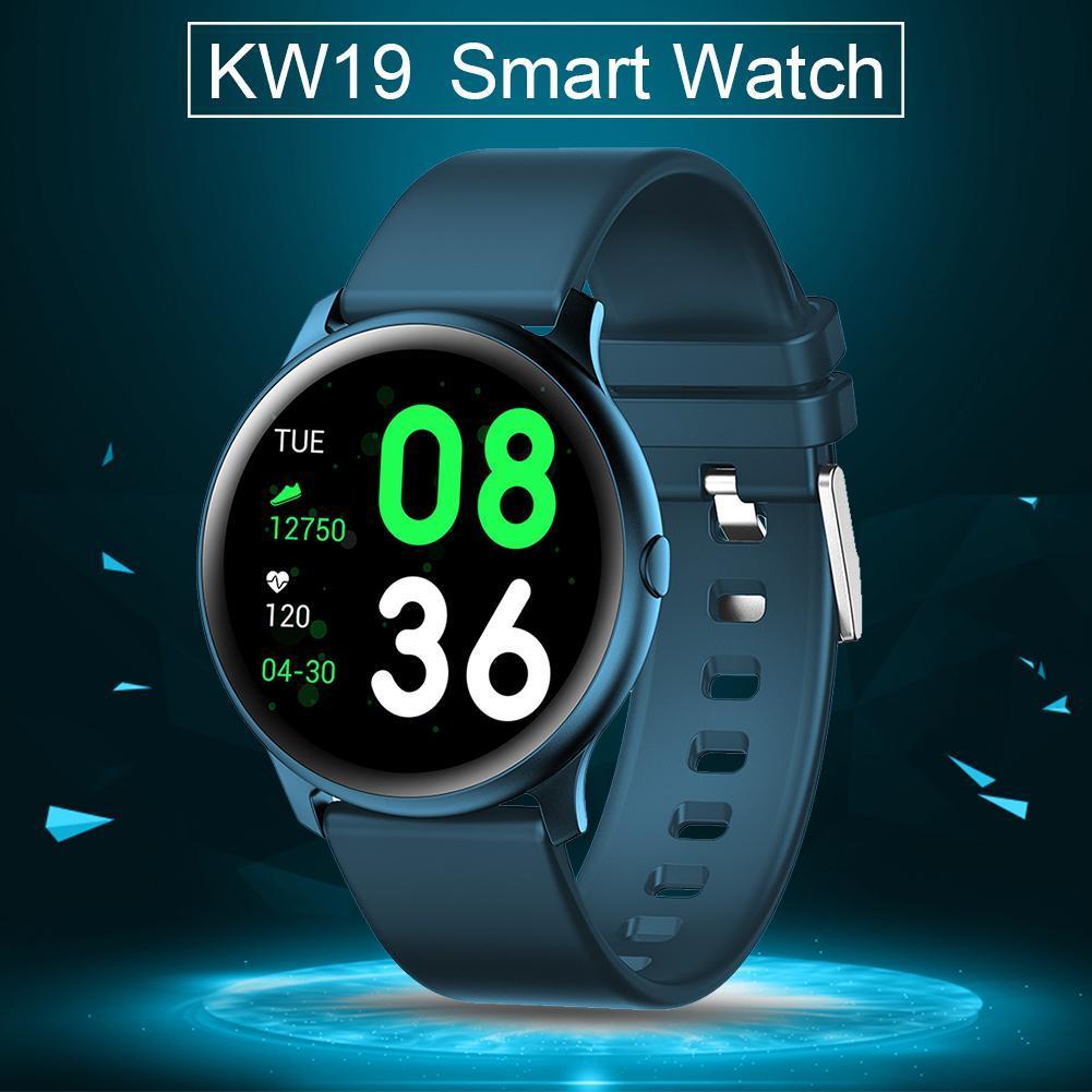 Gerçek Zamanlı Akıllı İzle Kalp Hızı Spor Sağlık Bilezik Bluetooth Smartwatch Kadınlar Akıllı KW19 IP67 Su Geçirmez