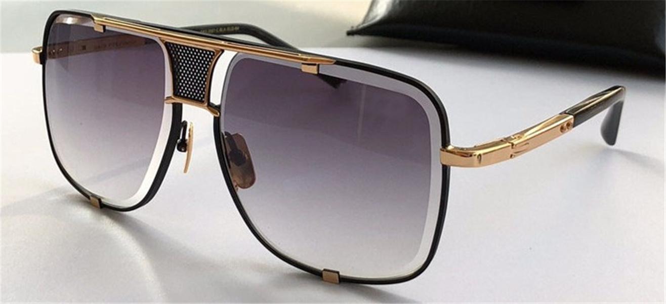 Occhiali da sole classici Uomo Design in metallo Vintage stile moda stile all'aperto Eyewear Square telaio UV 400 Lente con custodia