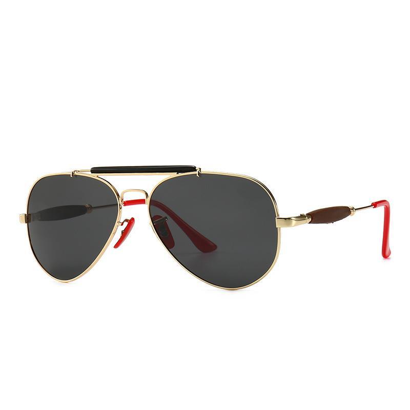 Men's New Polarized Punk Style Metal Sunglasses Classic Driving Fishing Sunshade 90% Goggles Women's Travel Sun Glasses
