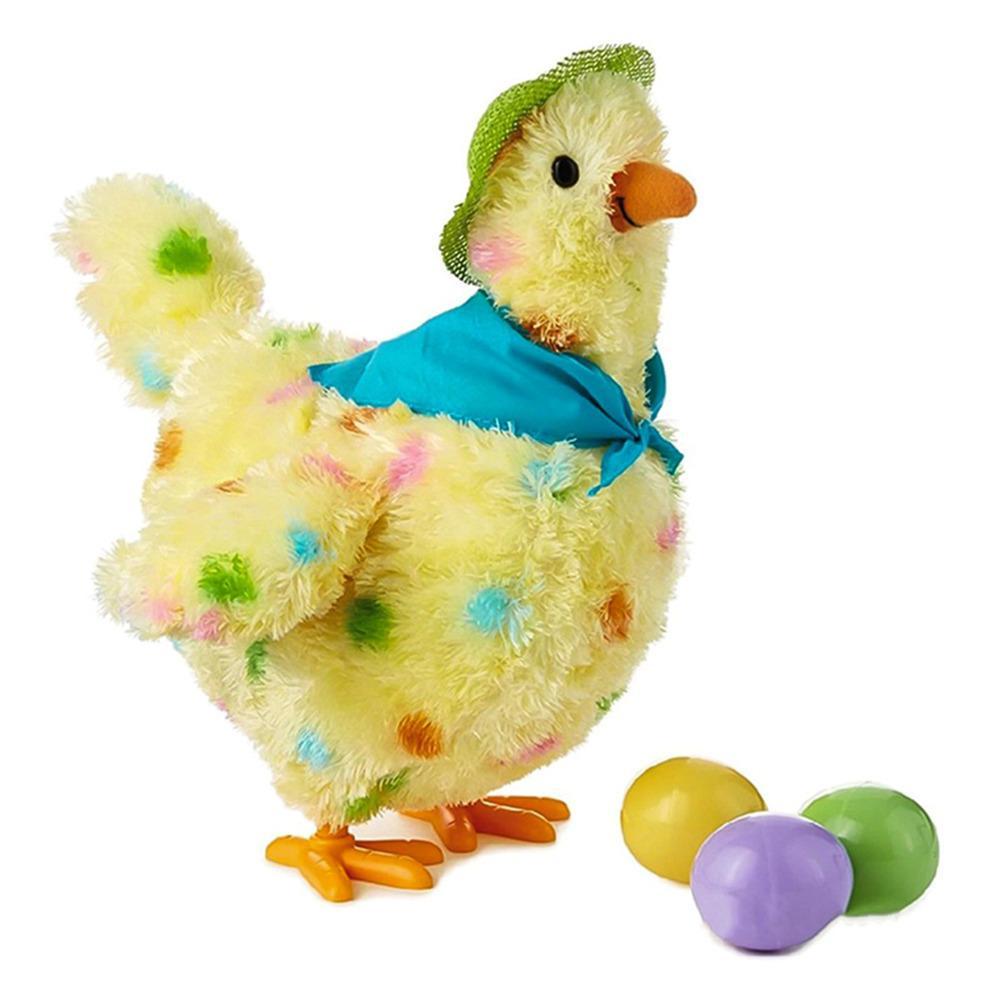 Ecub eug oeuf ponte de poulet avec lumières joy poupée poupée piquetage peluche peluche fou fou poule poules poules poules poulies oeufs jouet y1215