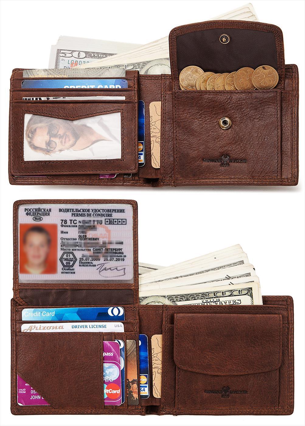 Kavis 100% couro genuíno couro Men Carteira Masculino Cüzdan walet Coin Purse Coin bolso Men Bolsa Pequenas e Perse Mini Zipper