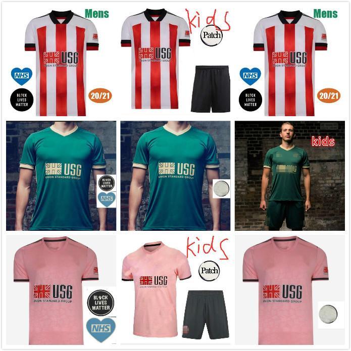 20 21 Sheffield Soccer Jerseys Berge Mousseset United 2020 2021 McBurnie Lundstram Fleck Hommes Kit Kit Chemise de football Norwood Sharp Jersey