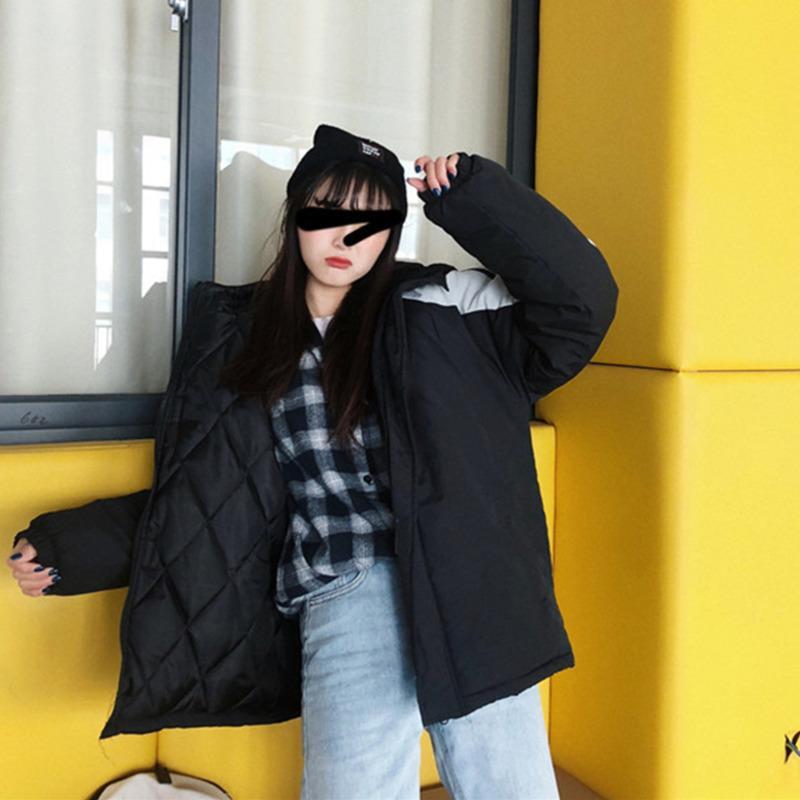 Algodão acolchoado Casual Médio Estilo capuz Roupa Contraste Mens Cor mulheres roupas de grife chapéu Moda Zipper Coats WW
