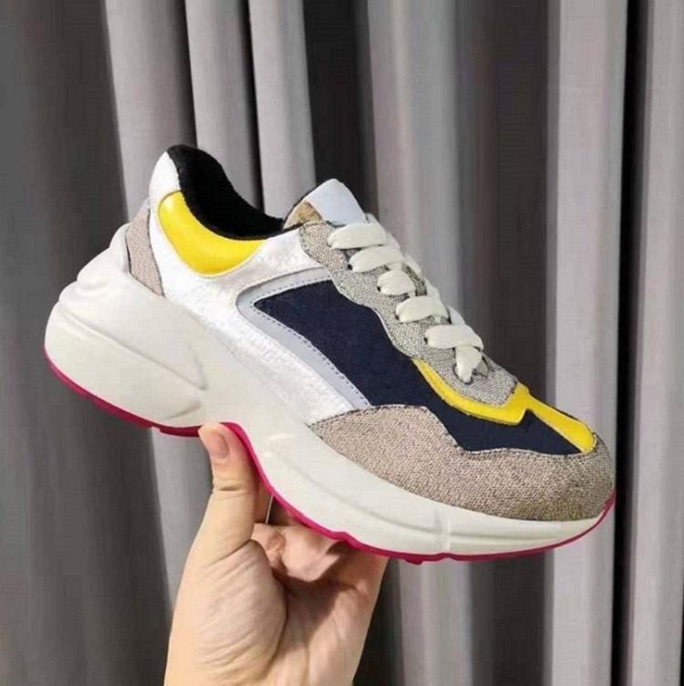Zapatillas de deporte de cuero de alta calidad para hombres zapatos de mujer con onda de fresa boca tigre web impresión vintage entrenador zapatos casuales home011 03