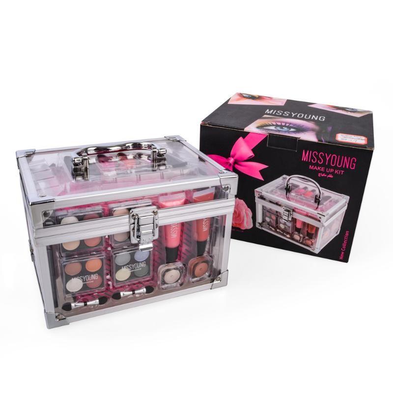 Kit de maquillage professionnel Set de maquillage Matte Shimmer Palette Palette Boite Acrylique Boîte à oreilles pressée poudre à roulettes rouge vernis à ongles
