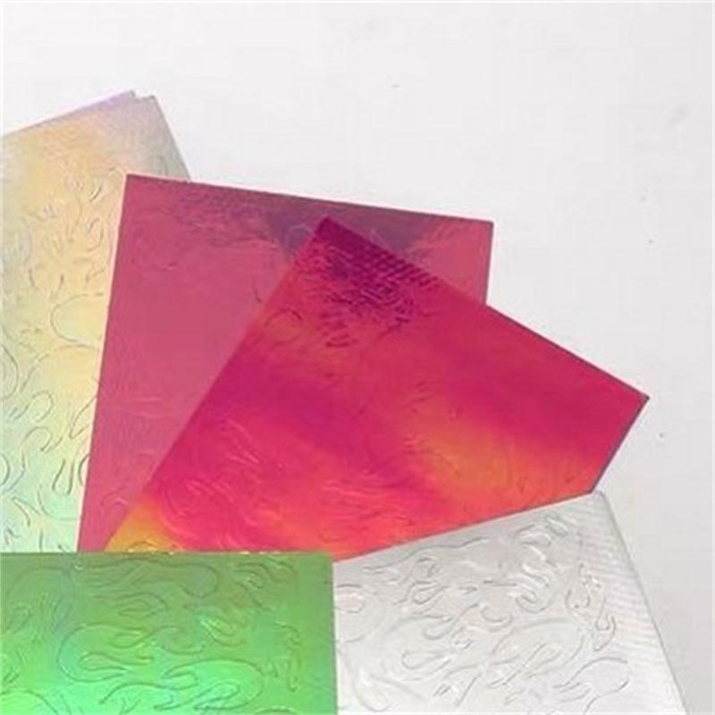 إمرأة مانيكير مسمار ملصق الليزر أورورا التدرج متعدد الألوان لهب شكل الأظافر الديكور 16 ألوان النيران نوع الشارات جديد وصول 5 6RQ L2