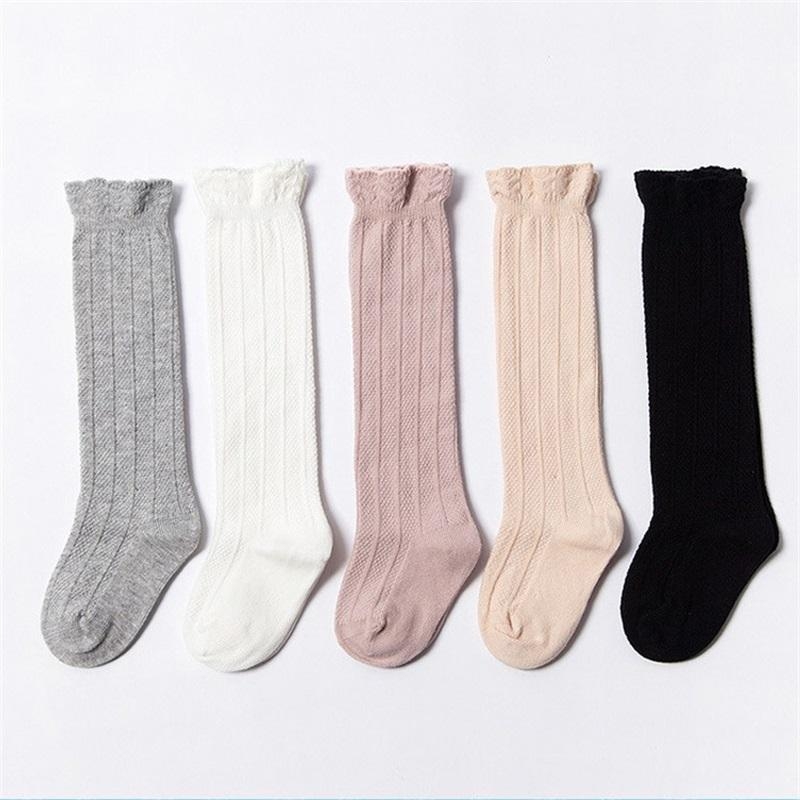Spring Autumn Baby Sock Apply 0 Till 3 Years Kid Cotton Ventilation Lace Babies Keep Warm Anti Cold High Socks 4 8cr L2