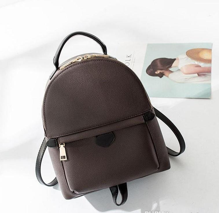 Кожаные пружины Женские женщины Качество рюкзак Рюкзак Printing PU Дизайнер Дети Мини Hight Backpacks Palm M41562 LPLSB