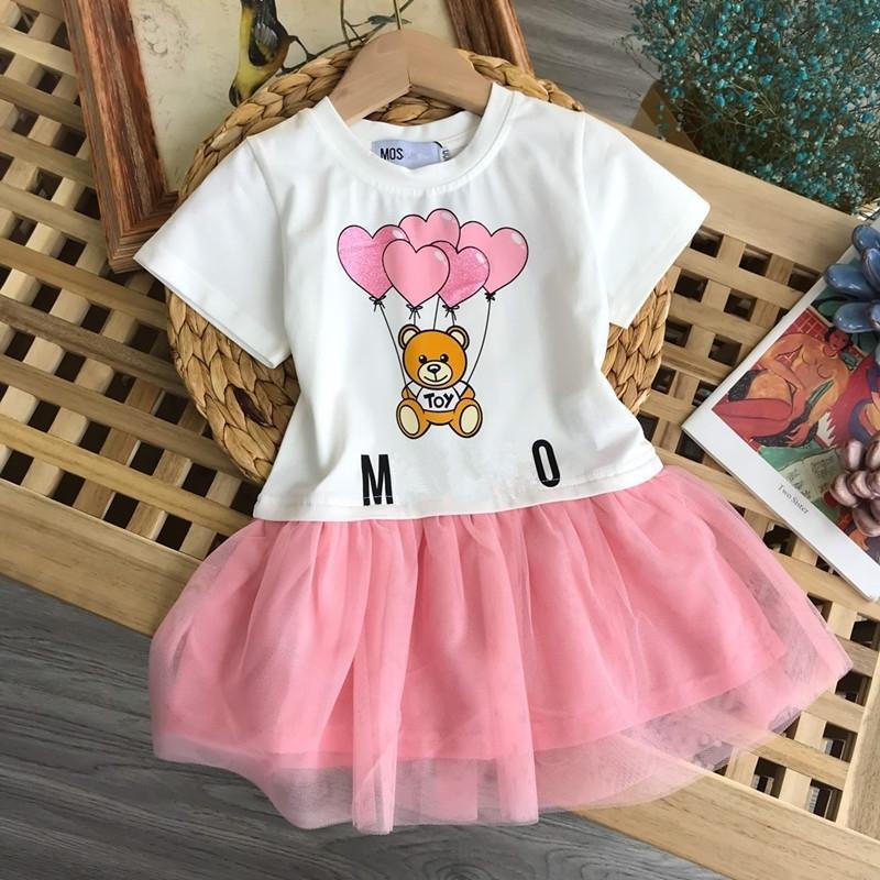Robe décontractée de filles d'été 3-10 ans Robe de filles, robe de belle fille, robe d'été pour enfants robes de filles T200716