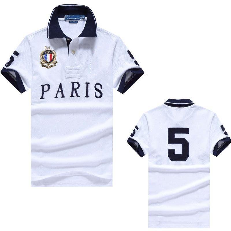 cheval nouvelle broderie couronne Polo mode revers polo de commerce extérieur occasionnel chemise de logo t-shirt