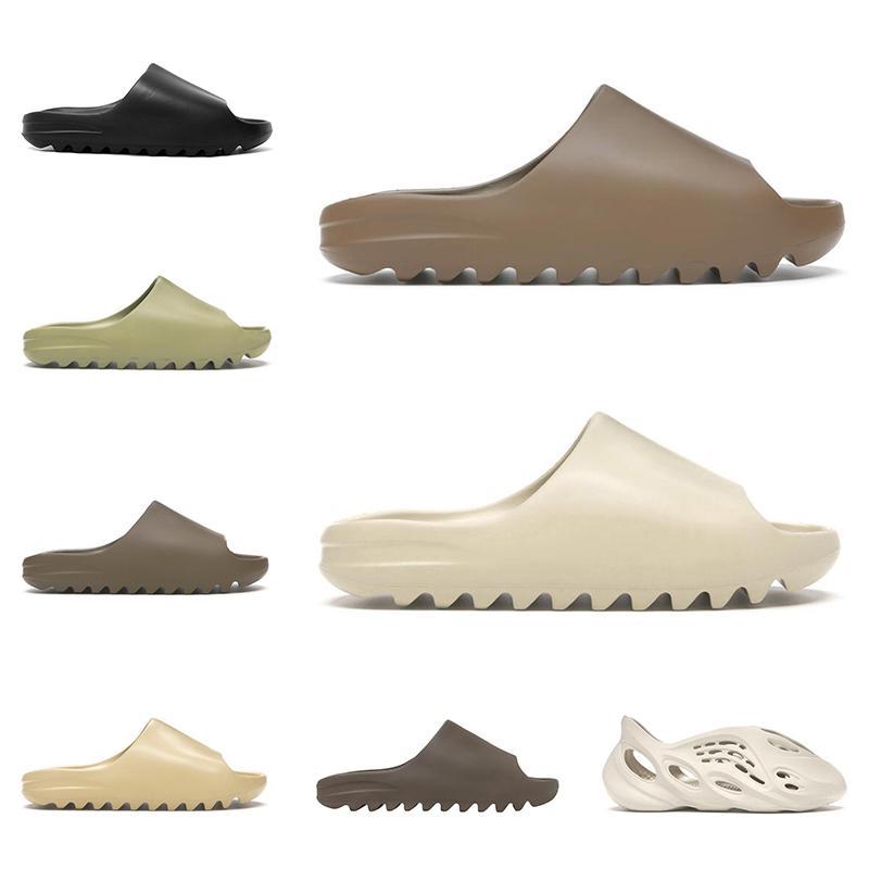 adidas yeezy slide kanye west slippers Las nuevas mujeres de diapositivas de diseño zapatillas de hueso de arena del desierto de sandalias Triple moda negro playa diapositivas mens