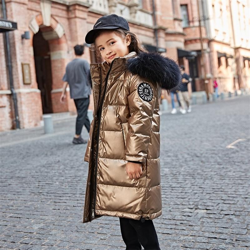 Neue Mode Kinder Warme Winter Daunenjacken Für Mädchen Kleidung Mantel Junge Kleidung Kinder Mit Kapuze Verdicken Lange Wasserdichte Parka 201030