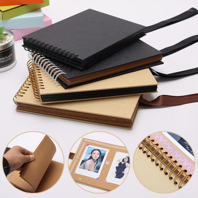 Albumsbooks 40 листов DIY PO Scrapbook CORCLIP COIL стиль ленты свадебные подарки памяти HKS991