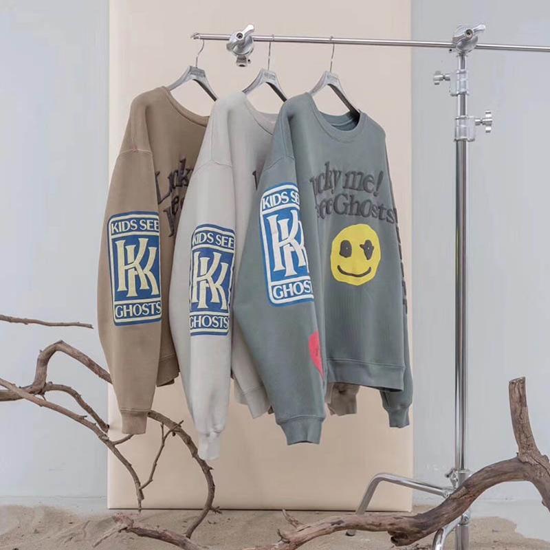 Kanye West KIDS GHOSTS Толстовка ПОСМОТРЕТЬ Мужчины Женщина 1: 1 вскользь высокого качества Призрака Patch CPFM Streetwear Hip Hop Kanye West фуфайка C1011