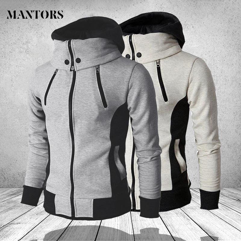 Men's Hoodie 2020 Autumn Winter Men Fleece Hooded Sweatshirts Fashion Stitching Male Casual Brand Clothing Sportswear Outwear
