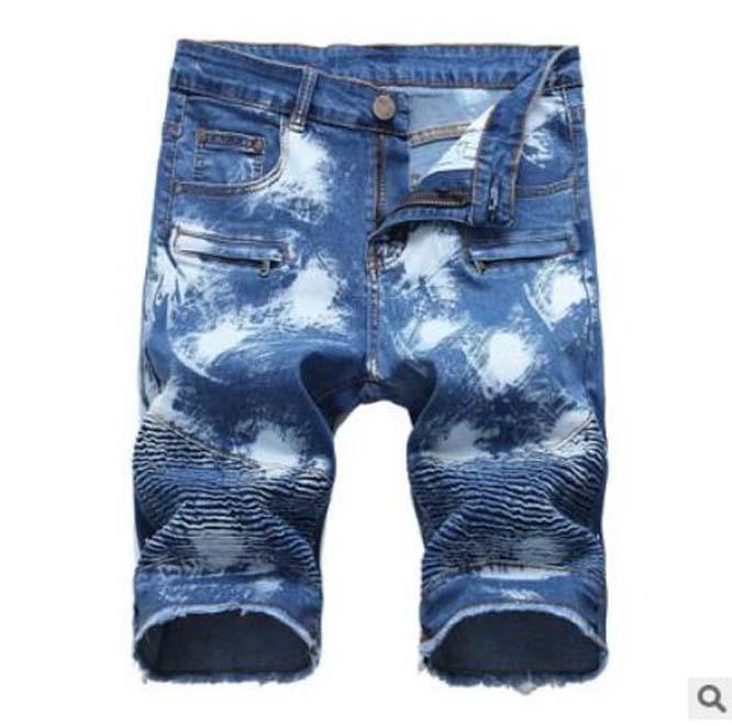 2021 Nouveau Short High Street Shorts Hip Hop Fashion Summer Homme Jour court Jeans Soft and Confilatif Shorts Jeans