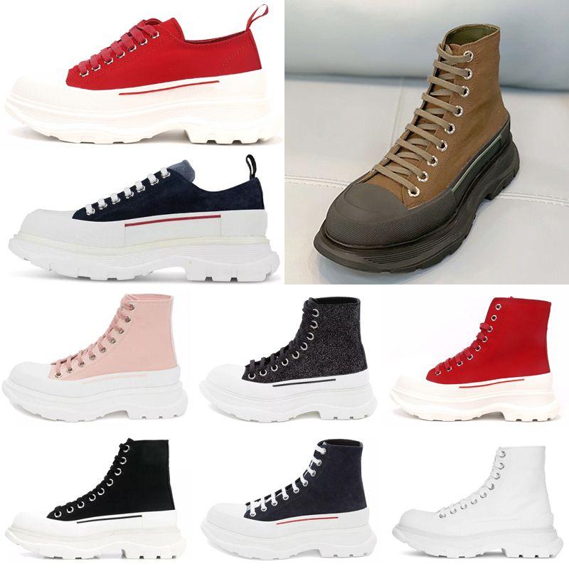 [En stock] Pisada de moda Slick Lace Up Luxurys Designers Colores Espadrille Alto Plataforma Blanco Hombre para mujer Casual zapatos casuales 2021 #