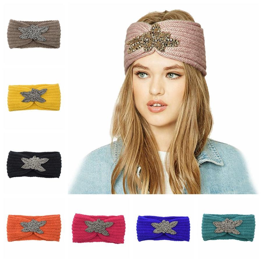 Knitting Hairband capelli del cerchio dell'orecchio Protezione fascia ha lavorato a mano calda inverno Sport capelli accessori Headwear favore di partito regalo LJJP772