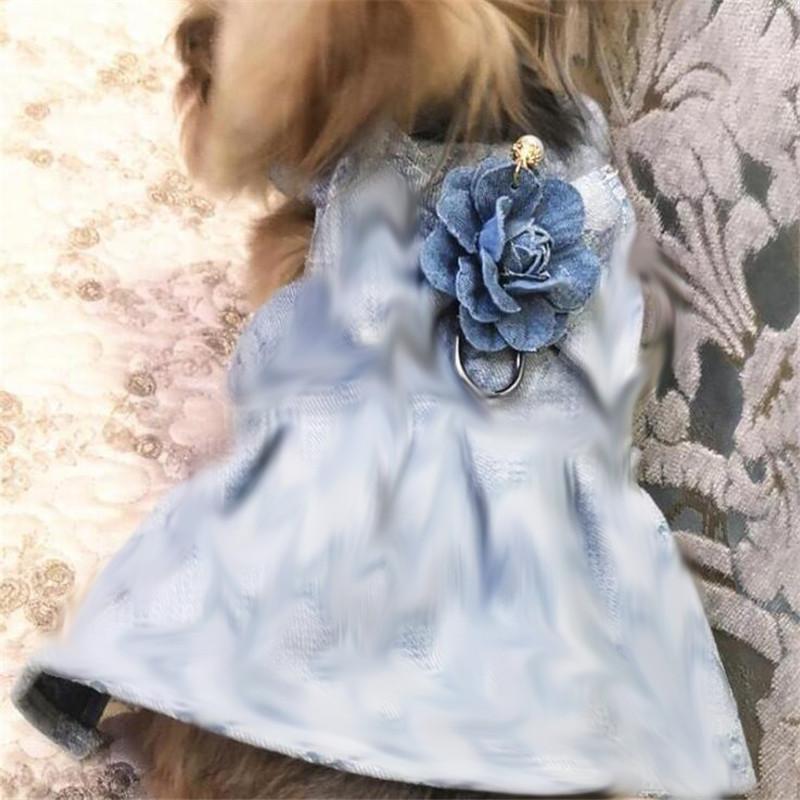 Clássico Jacquard Pets Coletes Moda Impresso Animais de Estimação Vestidos com trelas 2 estilos Estilo moderno estilo de rua animais de estimação vestido trelas