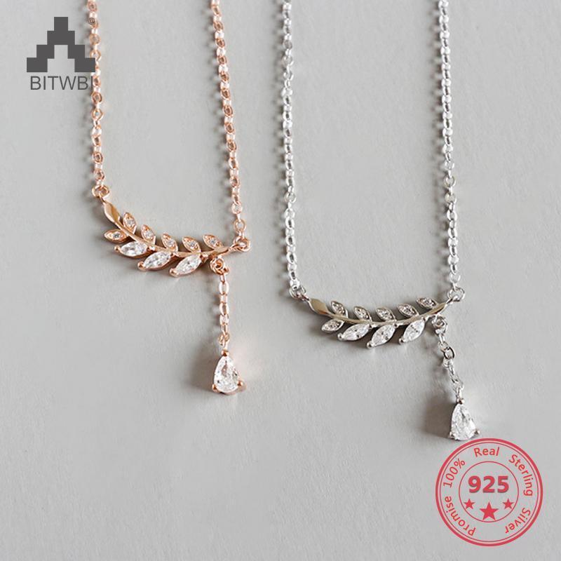 Цепи S925 Стерлингового Серебра Мода Нежное ЗИРК Ожерелье для Женщин