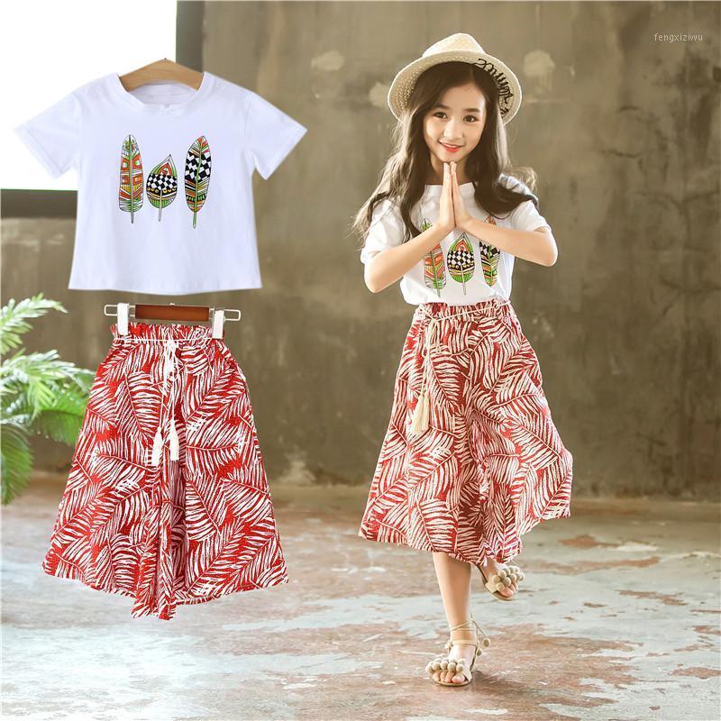 Crianças meninas verão roupas moda crianças crianças conjunto meninas adolescentes verão conjunto 6 8 10 11 12y boutique kids roupas roupas 20201