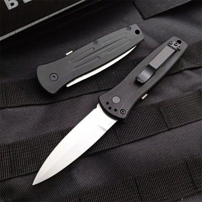 Hot sale Bench made butterfly 3551 quick side cutting Quick Open Folding knives Nylon Glass Fiber Handle Camping Pocket EDC
