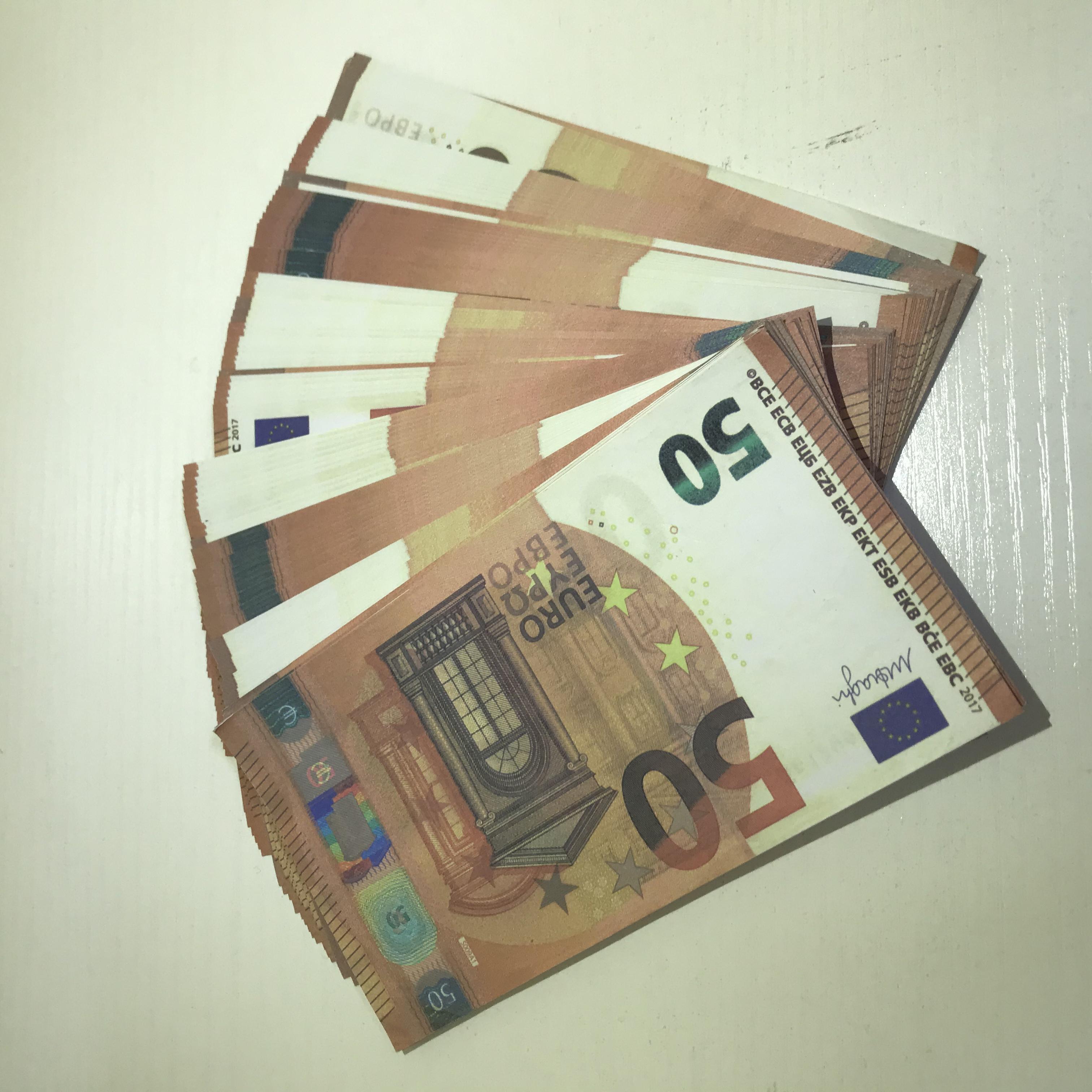 LE50-37 MBJSI PROP BAR 50 COMPORT MV Съемка горячей евро игрушечный этап атмосфера банкноты вечеринка контрафактная копия PROP IPRLN