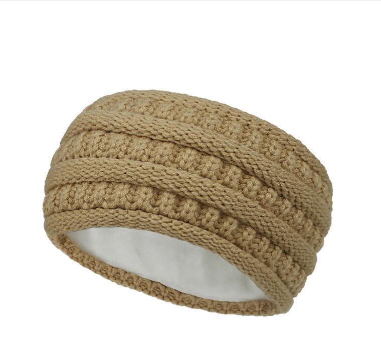 Bandbands de crochê de malha Mulheres inverno esportes hairbands Turbante yoga cabeça de cabeça orelha proteger muffs tampão headbands festa favor gwc3402