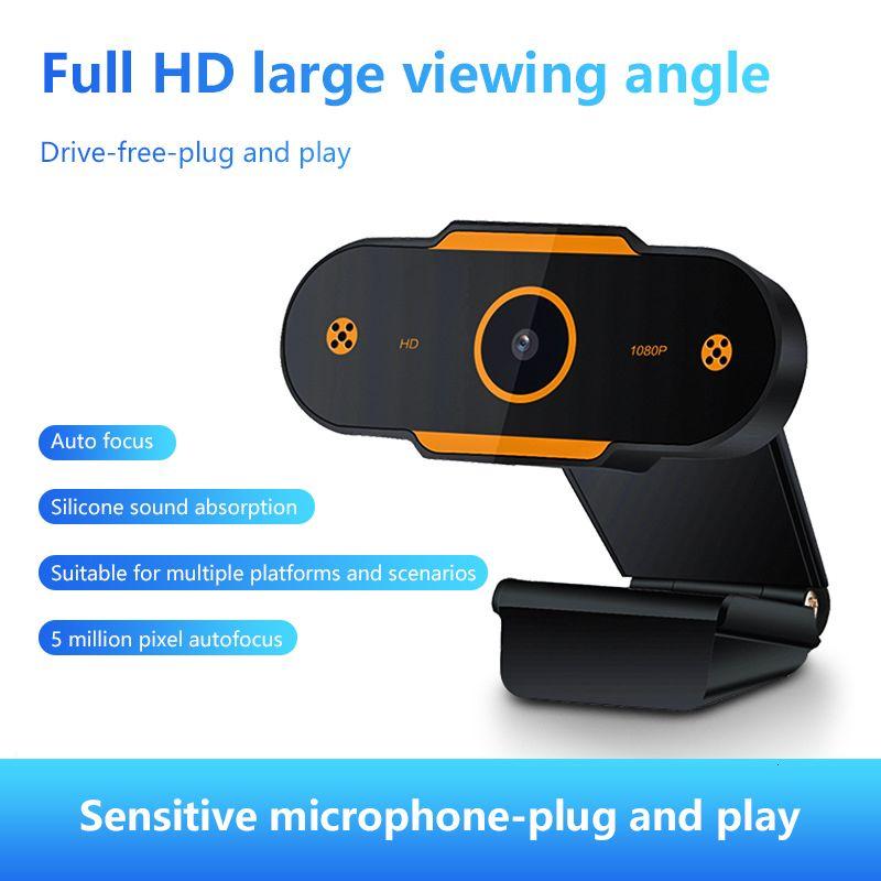 1080P HD Webcam mini computadora PC WebCamera con micrófono giratorio cámaras para difusión en directo de vídeo de llamadas de trabajo Conferencia