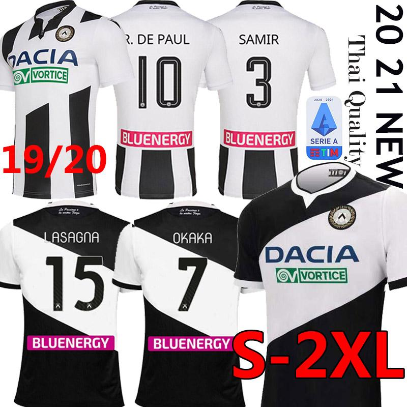 20 21 اودينيزي لكرة القدم الفانيلة DE PAUL 2020 2021 رودريغو BECAO اوكاكا كرة القدم قميص NESTOROVSKI 2019 اودينيزي اللازانيا كرة القدم قميص