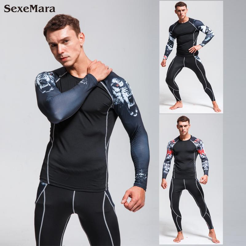 Tayt Erkek Koşu Tayt Spor Salonu Giyim Spor Tozluklar Erkekler pantolon Koşu Yeni Sıkıştırma Pantolon Spor Suit