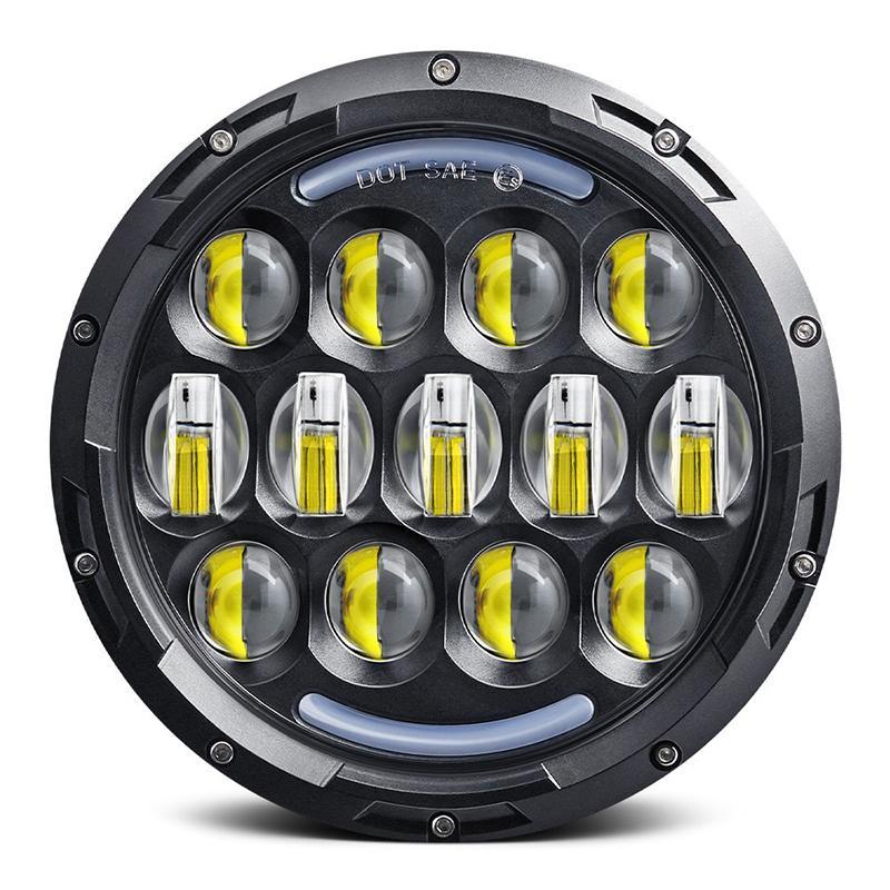 Yeni Gelişme Lambası Oto Araç Sportster için 7 inç Led Daymaker Projektör Far DRL LED Sürüş Işık uyuyor ışıkları