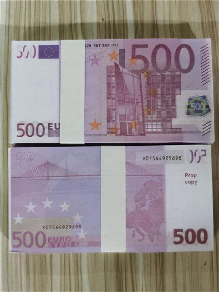 Atmosfera de armas Bhrmr falsa euro cédula l0129-8 brinquedo quente 500 proposta venda notas play fase bar filme falsificador festa coleção de dinheiro vccs