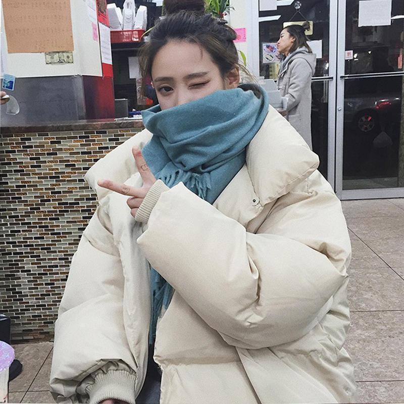 Frauen Down Parkas Baumwolljacke Weibliche Parka Lose Warme Dicke Wintermantel Frauen Kleidung Gepolsterte Übergröße Kurze Oberbekleidung1